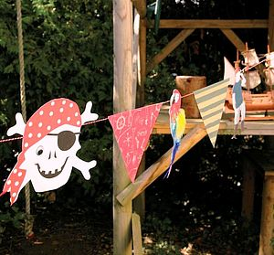Ahoy There Pirate Garland - children's parties