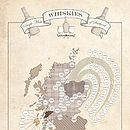 Whisky Map Print