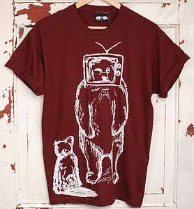 TV Bear T Shirt - men's