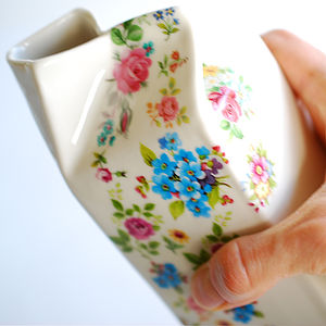 Mixed Posy Porcelain Milk Jug - tableware