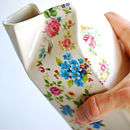 Mixed Posy Porcelain Milk Jug