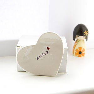 Gift For 'Sister' Ceramic Ring Dish - jewellery storage & trinket boxes
