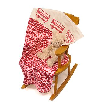 Cuddle Up London Bus Baby Blanket