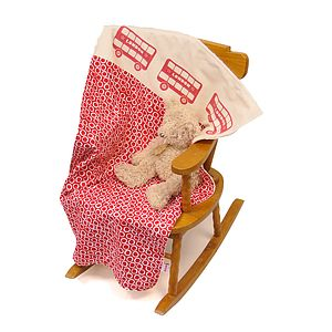 Cuddle Up London Bus Baby Blanket - soft furnishings
