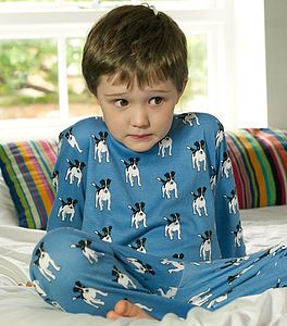 Organic Jack The Dog Print Pyjamas - children's clothing