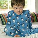 Organic Jack The Dog Print Pyjamas