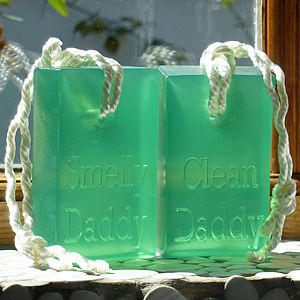'Smelly Daddy Clean Daddy' Soap On A Rope - from the little ones