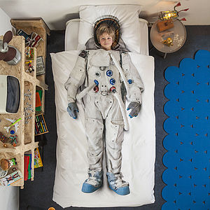 Astronaut Single Bed Set - bedroom