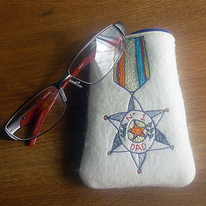 'Number One Dad' Glasses Case - more
