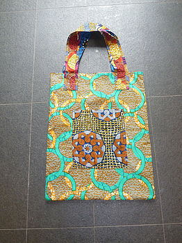 African Fell Fabric Sack Size Shopper Bag