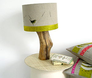 Wren And Wildflower Lampshade - bedroom