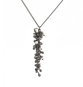 Blossom Silver Drop Necklace