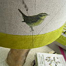 Wren And Wildflower Linen Lampshade