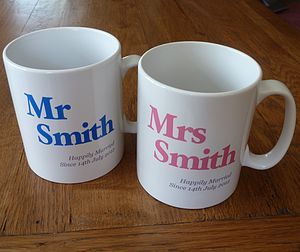 Personalised Mr And Mrs Mugs - mugs