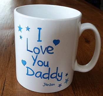 Personalised I Love You Father's Day Mug