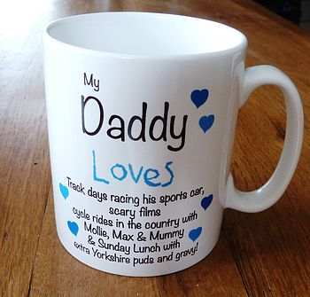 Personalised 'Dad/Daddy Loves' Mug