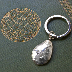 Silver 'World Is Your Oyster' Keyring - keyrings