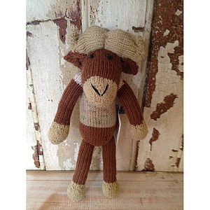 Buffalo Knitted Doll - soft toys & dolls