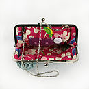 Large Ruffelle Adele Clutch Bag Example of lining and hidden chain frame