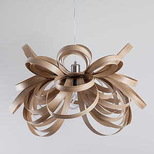 Tom Raffield Butterfly Pendant Wooden Lampshade - office & study