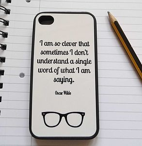 Oscar Wilde Quote Case For iPhone - phone & tablet covers & cases