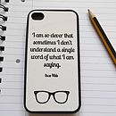 Thumb oscar wilde quote iphone case