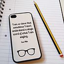 Oscar Wilde Quote Case For iPhone