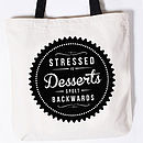 'Stressed Desserts' Canvas Tote Bag
