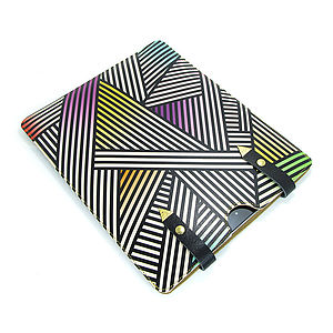 Leather Geometric Case For IPad - laptop bags & cases