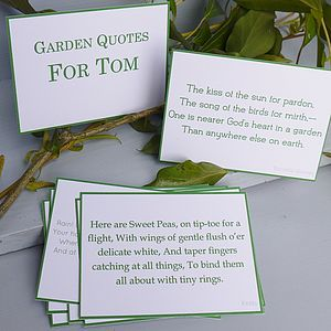 Personalised Garden Quotes Gift - gardener
