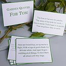 Personalised Garden Quotes Gift