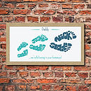 Personalised Daddy FootPrint