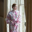 Kimono Dressing Gown In Rose Print