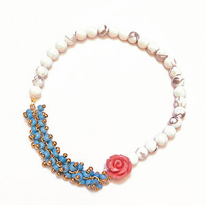 Semi Precious Bead Stretch Bracelet - mother's day gifts