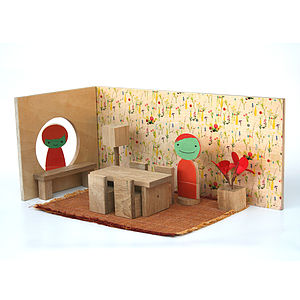 Magnetic Flower Design Play Room - traditional toys & games
