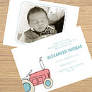 12 Personalised Birth Announcement Cards