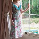 Blue Rose Floral Very Lacey Nightie
