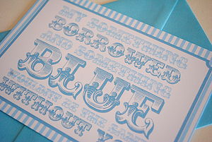 'Will You Be My Bridesmaid' Card Blue