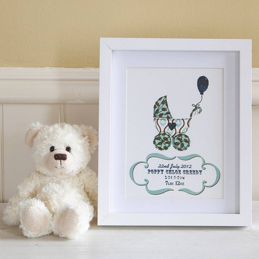 personalised new baby gift print by lovely jubbly designs