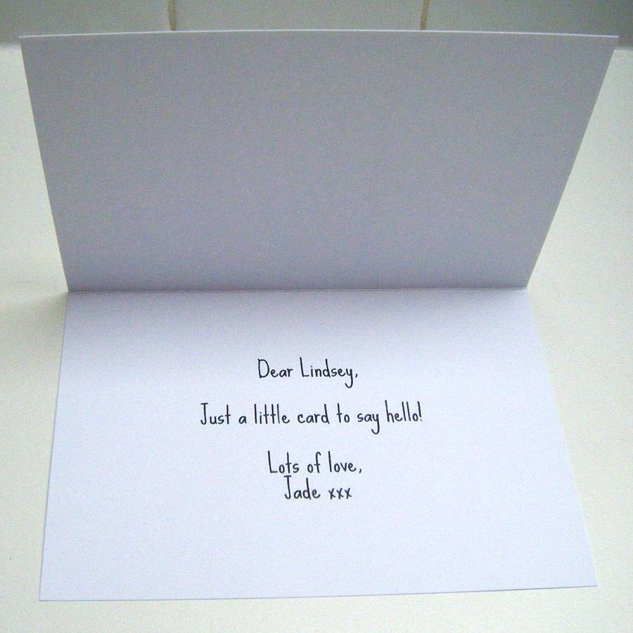 Example Of Personal Message Inside Card