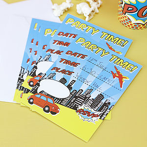 Superhero Party Invitations - shop by price
