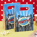 Pop Art Superhero Paper Party Bags