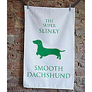 Smooth Dachshund Tea Towel