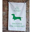 Smooth Dachshund Tea Towel