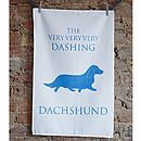 'The Dashing Dachshund' Tea Towel