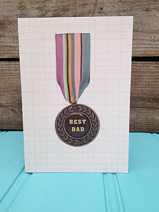 'Best Dad' Medal Card