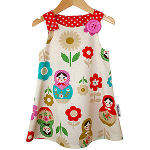 Babushka 'Jessie' Pinafore Dress - dresses