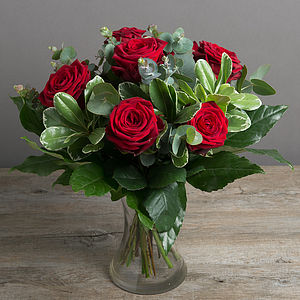 Sweet Red Rose Bouquet - fresh flowers