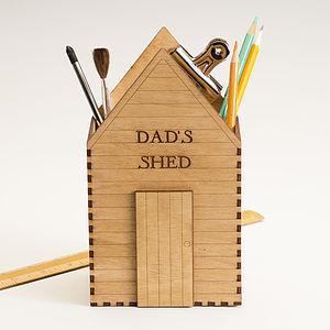 Personalised Garden Shed Desk Tidy - gardener