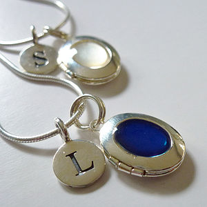 Locket And Letter Necklace - necklaces & pendants